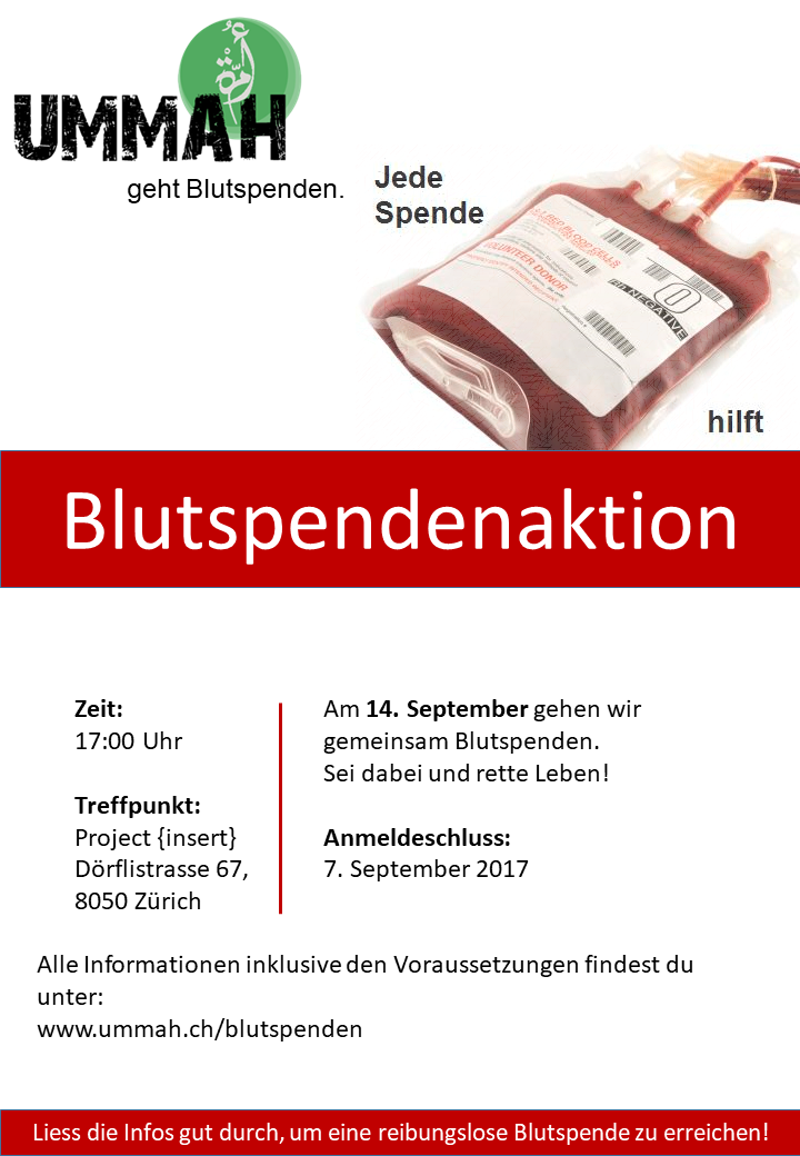 Blutspendenaktion 14. September